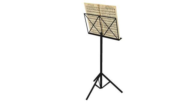 Partitura musical com estante / Musical score with stand - 3D Warehouse