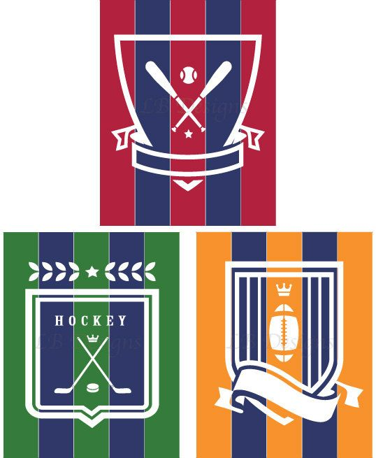 Items Similar To Navy Blue Green Red Orange Sports Nursery Boys Room Print