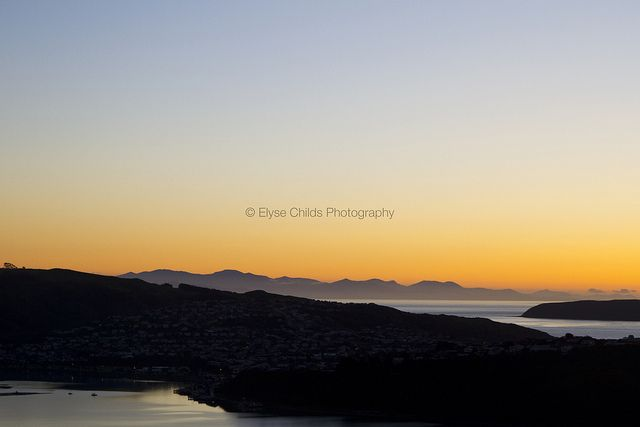 Sunset over Titahi Bay, South Island and Mana Island | © Elyse Childs Photography