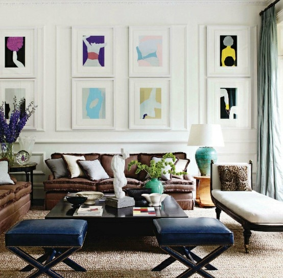 Navy and turquoise living rooms to live in home decor - Navy blue and turquoise living room ...