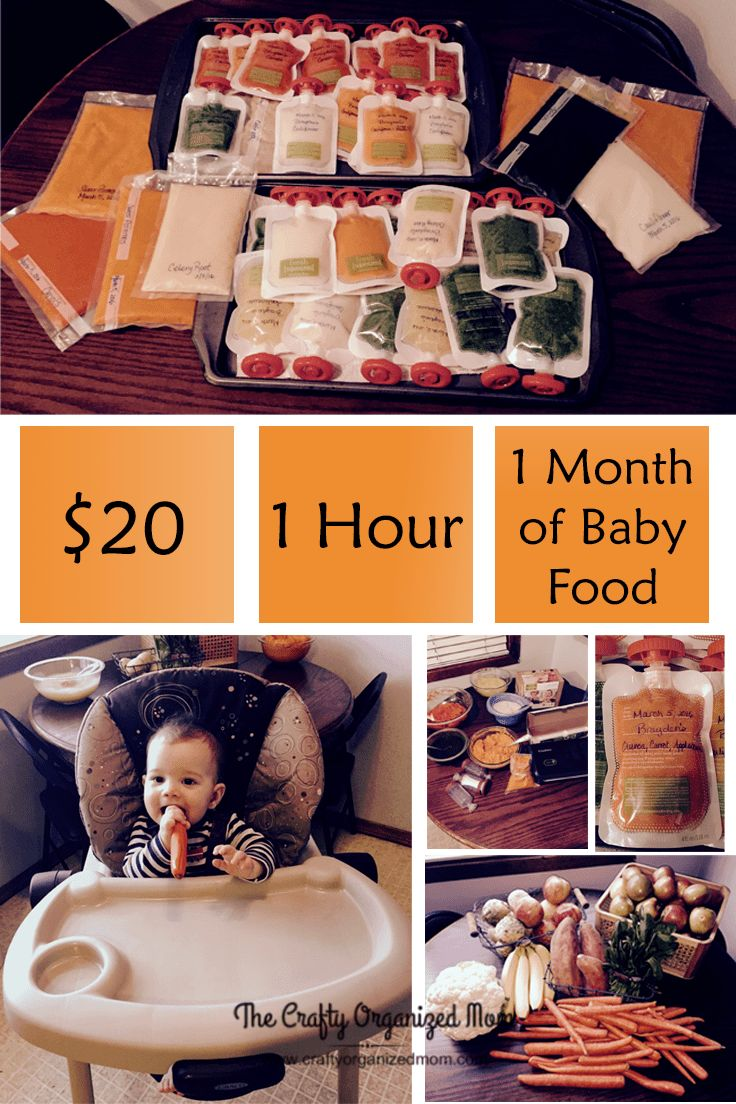 There is something so gratifying about choosing his foods and seeing every step of the process of turning them into a delicious meal. Easy DIY baby food. Make a whole month's worth of food in an hour and all for only about $20. | Baby | Food | Healthy | DIY | Make Your Own | Puree | Vegetable | Stage 1 | Infantino | Budget | Freeze | Fruit | Pouch.