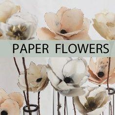 10 Pretty Paper Flower Tutorials