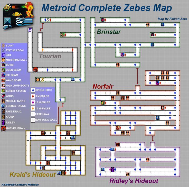 Metroid: map