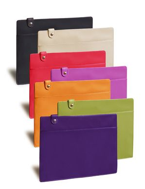 Bright leather document holder, to hold your killer presentation in style.