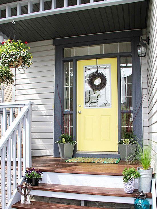 The front door to a home makes a big first impression of the inside of your home. Enhance your curb appeal and welcome your guests with an amazing front door. See how these bloggers used some DIY, paint and new hardware to really transform their front doors.