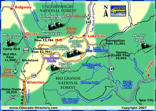 Alpine Loop Scenic Byway, Lake City, Colorado. Going there again summer 2014, woo-hoo!