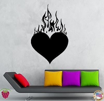 Wall Stickers Vinyl Decal Cool Love Heart Romantic Bedroom Decor (ig195)