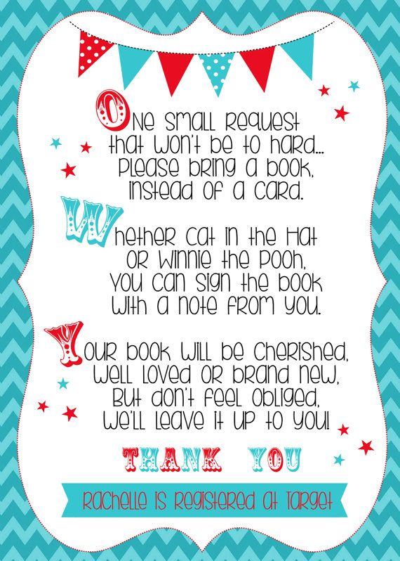 Hey, I found this really awesome Etsy listing at https://www.etsy.com/listing/176149610/circus-baby-shower-bring-a-book-insert