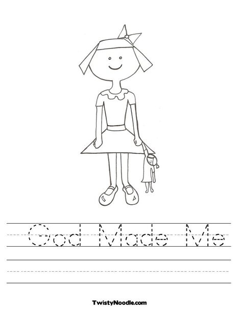 god made me coloring pages - photo#11