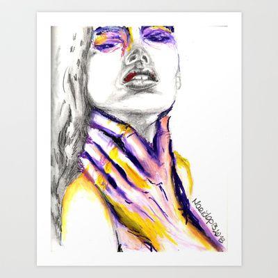 Domestic Violence Survivor Art Print by Maria Lopes - $15 ...