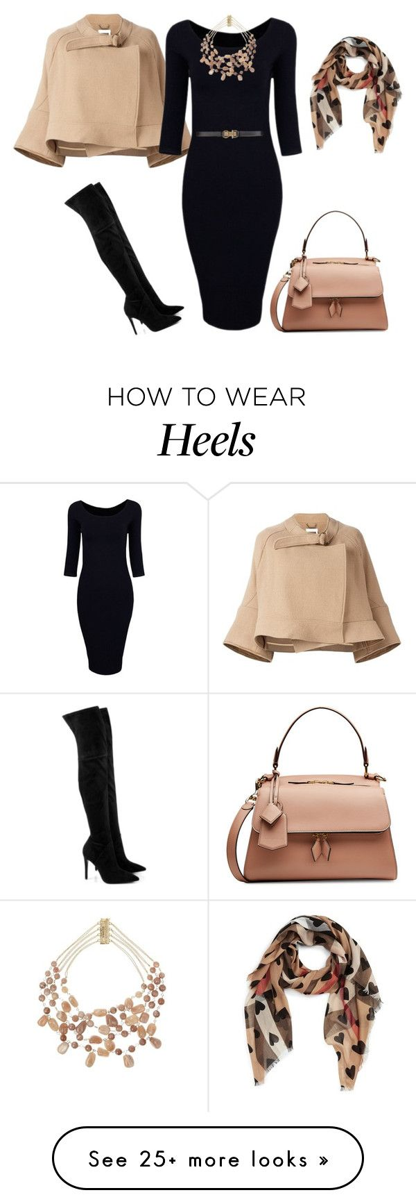"""outfit 5045"" by natalyag on Polyvore featuring Chloé, Kendall + Kylie, Victoria Beckham, Burberry, Rosantica and BCBGMAXAZRIA"