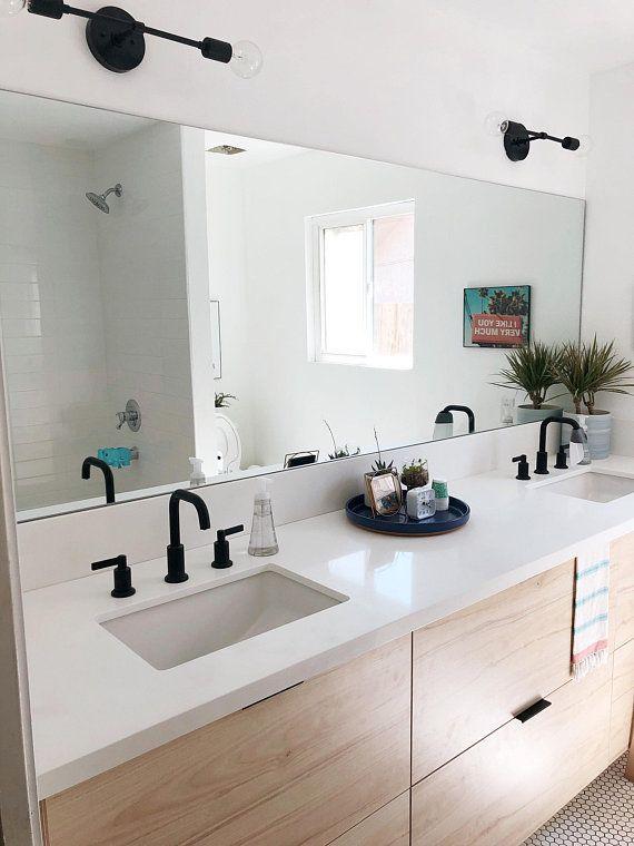 Black Modern Wall Sconce Reach, Modern Bathroom Light Fixtures Black