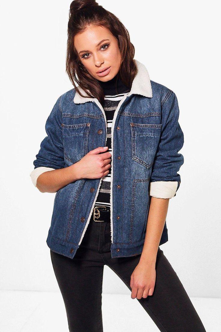 Jenny Fully Lined Borg Denim Jacket