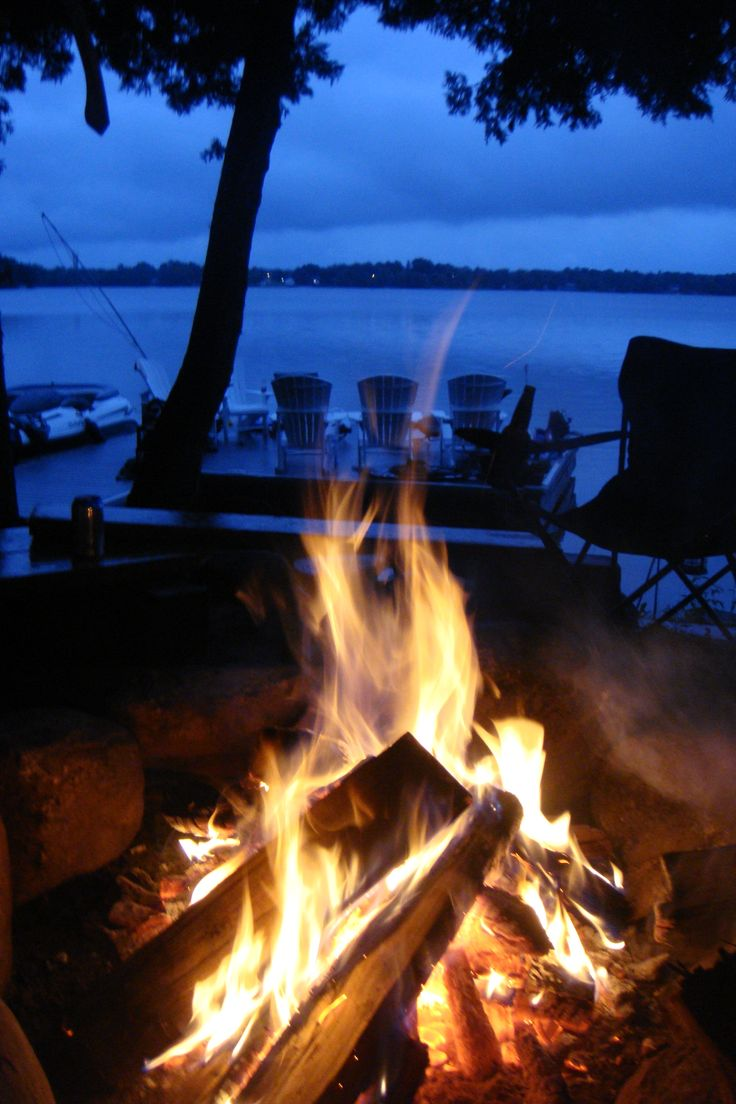 Bonfires at the lake house - such good memories for everybody!