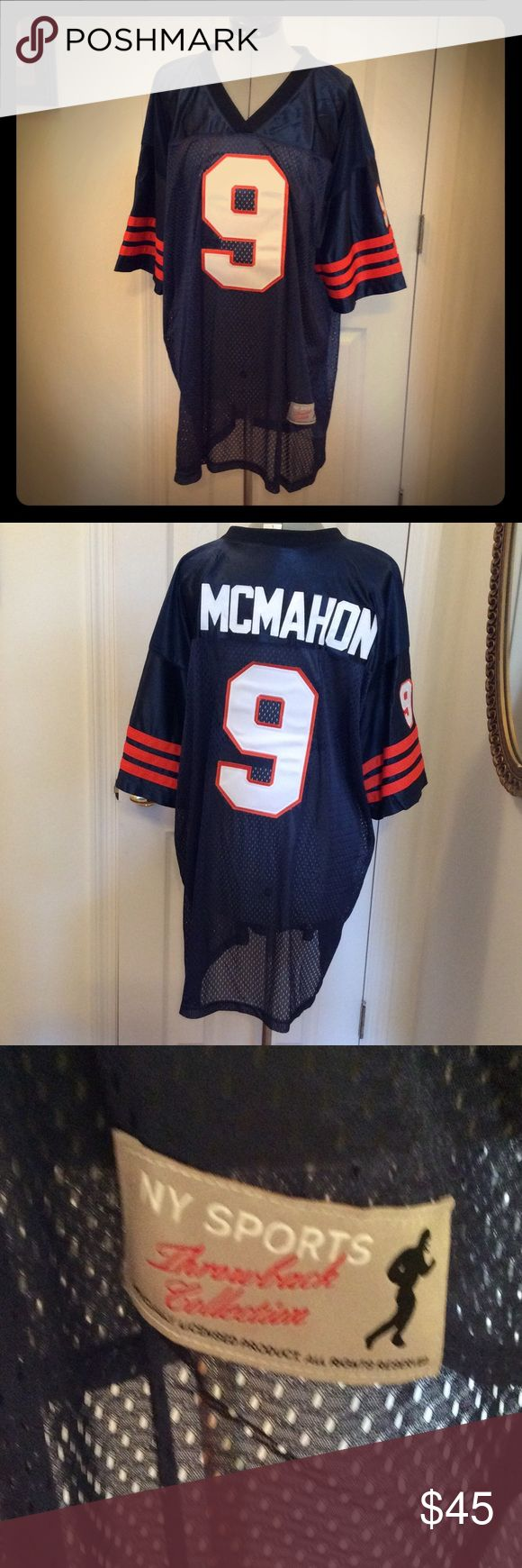 Jim McMahon jersey Throwback collection, size men's L, like new , never used. Great gift N Y Sports Shirts