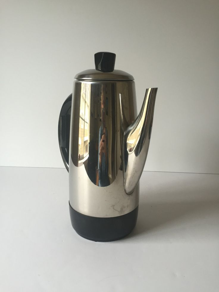 General Electric Coffee Maker 5 Cup : Vintage GE Electric Coffee Pot, General Electric Percolator Coffee Pot, Mid Century Coffee Maker ...