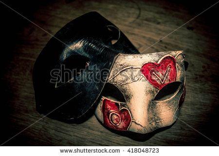 Venetian leather masks, handmade Venice carnival mask.