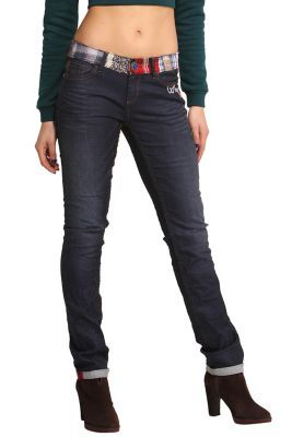WOMAN DENIM LONG TROUSERS