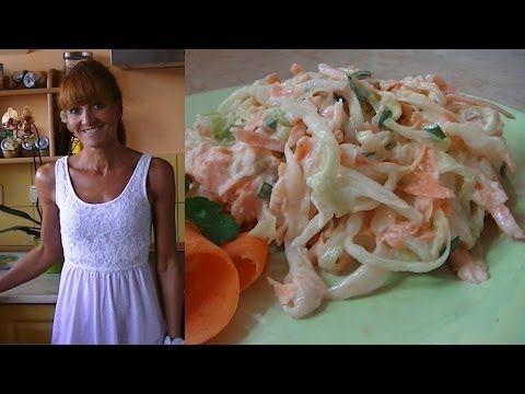 Sałatka z białej kapusty [KuchniaRenaty] - YouTube