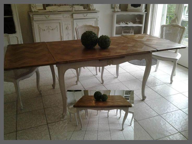 Table en ch ne avec 2 rallonges 2x50 l 39 italienne for Table chene avec rallonge