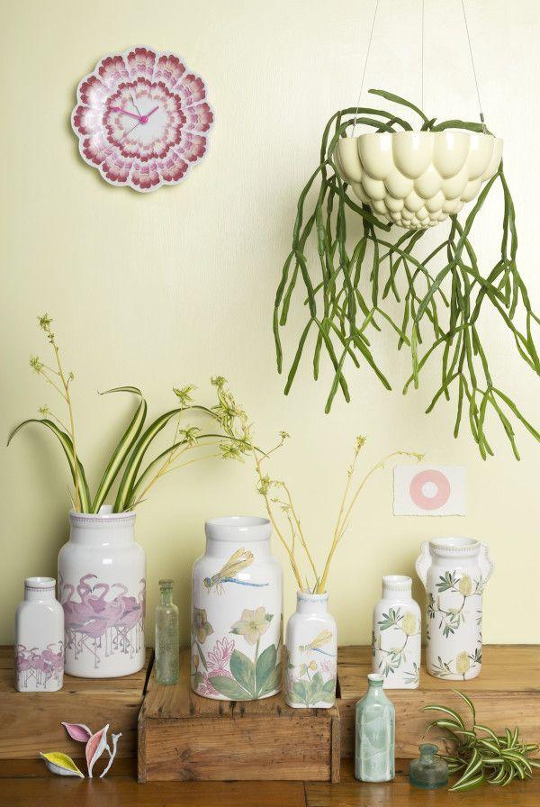 Delicate #vases #flamingoes