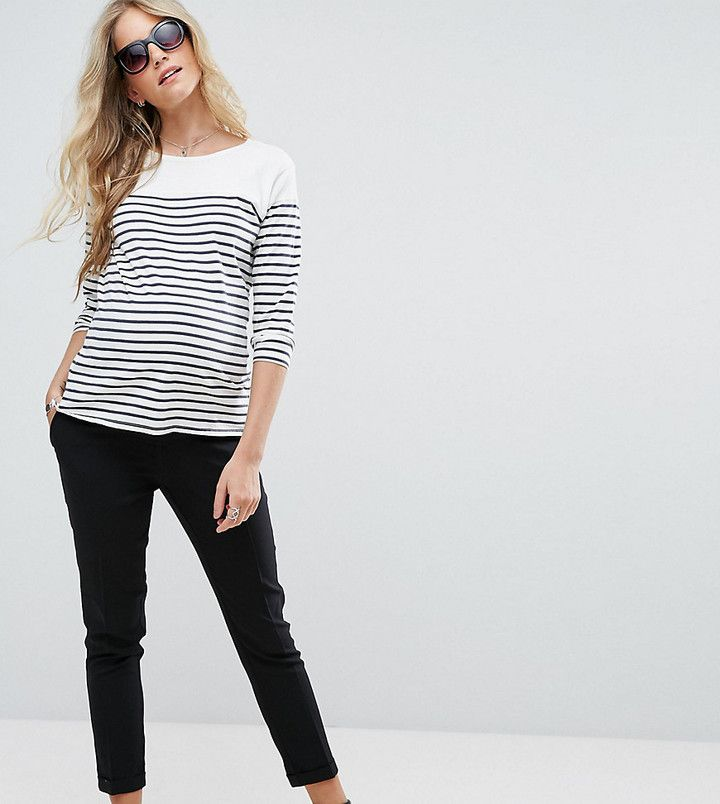 #damenmode #mode #damen #frauenmode #fashion New Look Maternity – Schmale Stretch-Hose mit Baucheinsatz