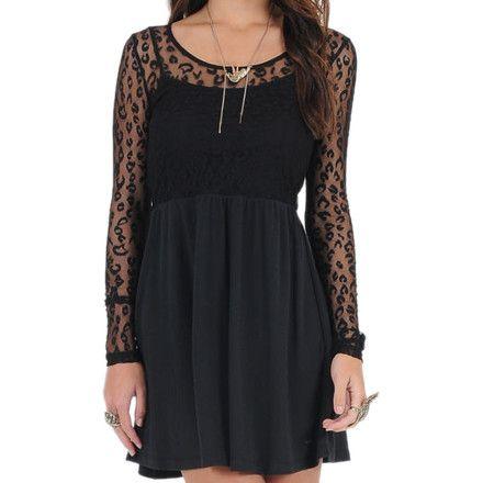 Volcom frochickie dress womens black print 7x5