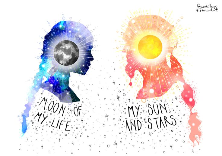 Moon of my life & My sun and stars - Game of Thrones //// Ilustración digital: Guadalupe Ferrante.