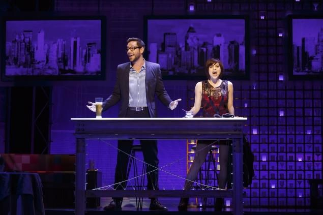 Krysta Rodriguez and Zachary Levi star in Broadway's 'First Date,' which ends Jan. 5. #Broadway #Musicals