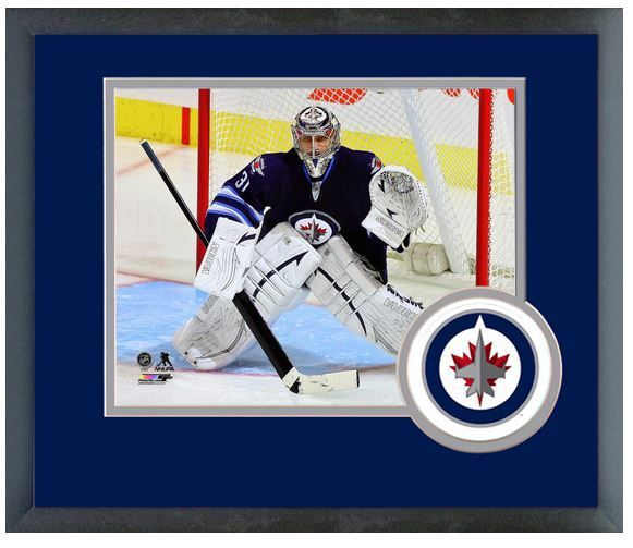 "Ondrej Pavelec 2013-2014 Winnipeg Jets - 11"" x 14"" Matted/Framed Photo"