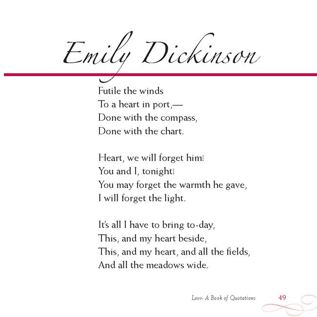 Compare and Contrast two poems by Emily Dickinson?