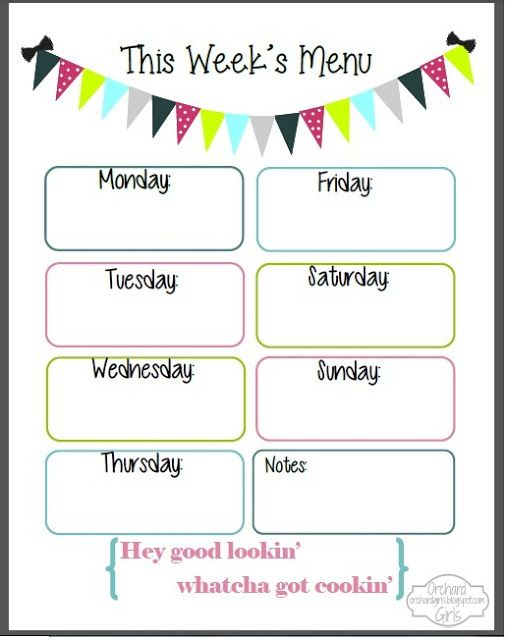 Weekly Menu Planner Template For Numbers Free IWork Templates Weekly Menu  Template Print Our Weekly Menu Form Weekly Menu Planning Printable Pursuit  Of  Free Menu Templates Printable