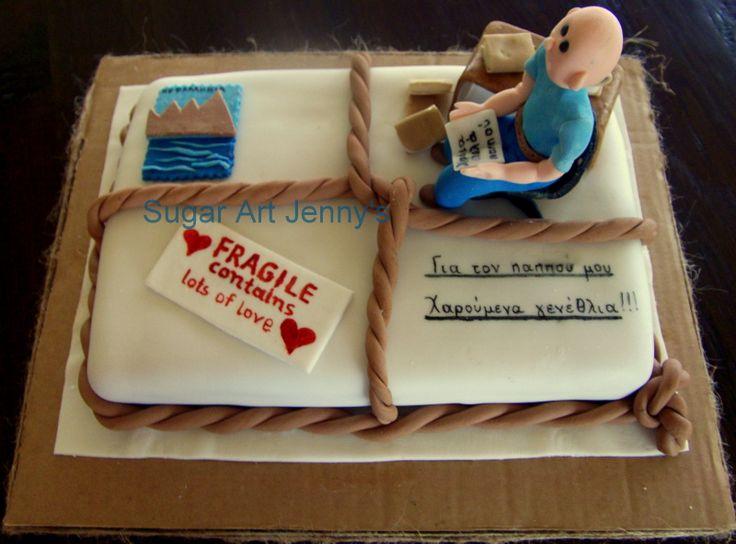 package for grandpa birthday cake  Sugar Art Jennys  Pinterest