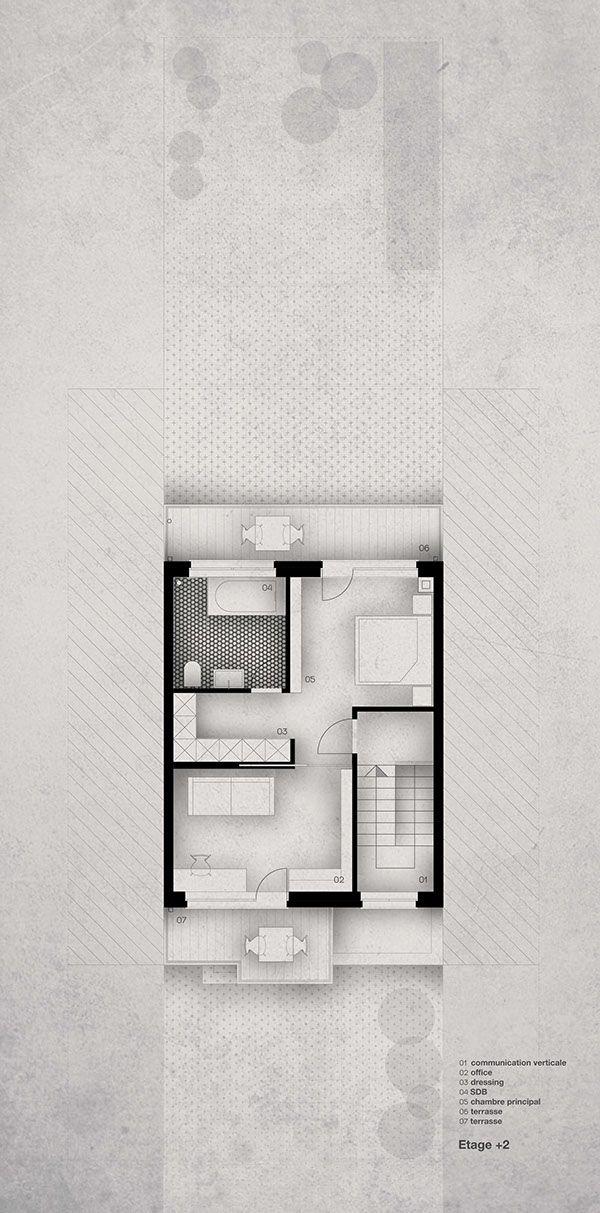 2nd Floor of Maison A by Liliana Škrobot