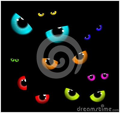 Image Of Happy Halloween  Spooky Background Flat Design. Vector Illustration Of Invitation Card With Scary Eyes, Eyeballs, Iris. - Download From Over 36 Million High Quality Stock Photos, Images, Vectors. Sign up for FREE today. Image: 59896063