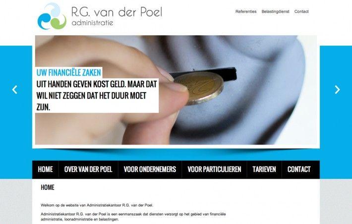 "Website ""R.G. van der Poel administratie"" by Studio Phunc"