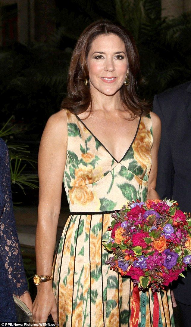 Fabulous floral: The princess opted to wear a floral Marc Jacobs dress for the awards cere...