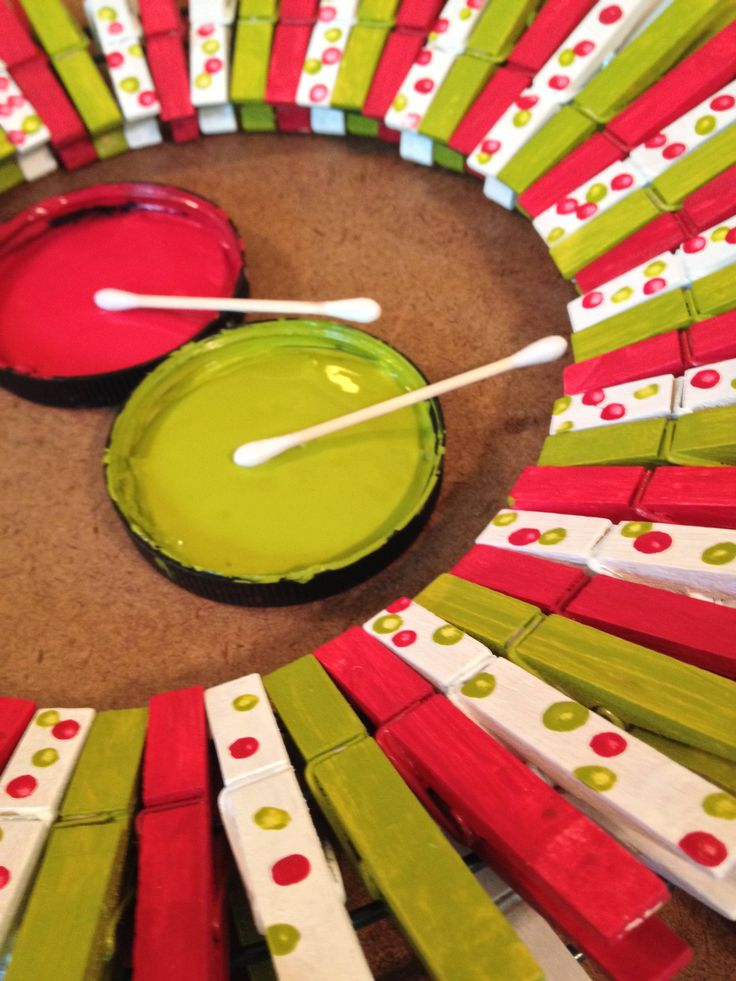 Holiday Clothes Pin Wreath: Festive and Fun Project   The Home Depot Community