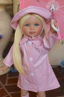Doll rain PINK doll Raincoat +Hat, boots and umbrella $35 VALUE