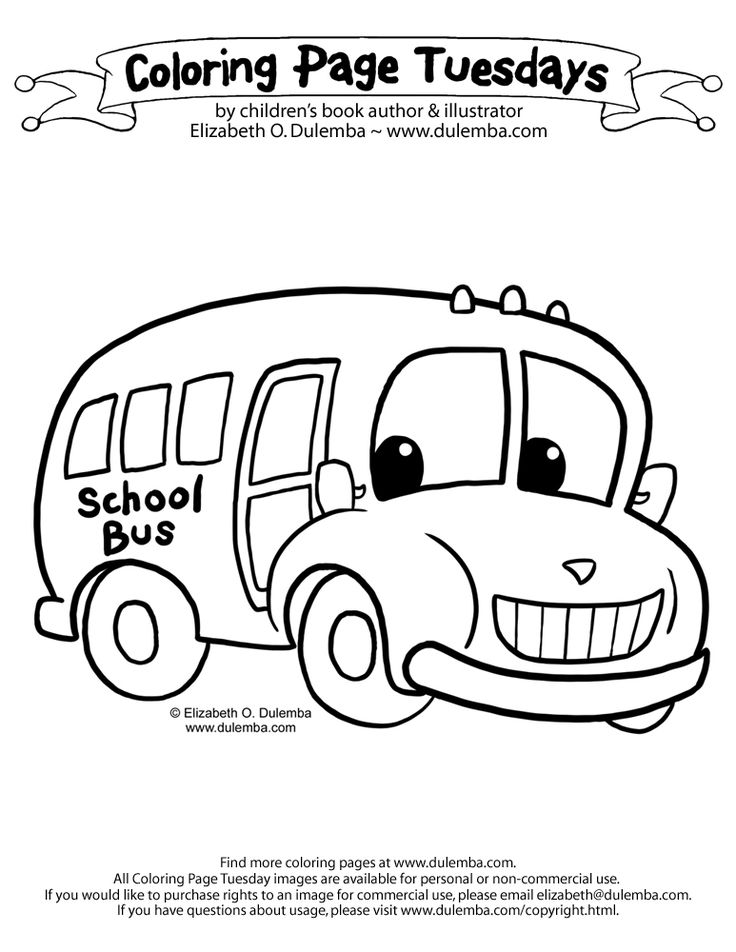 coloring pages bus - photo#24