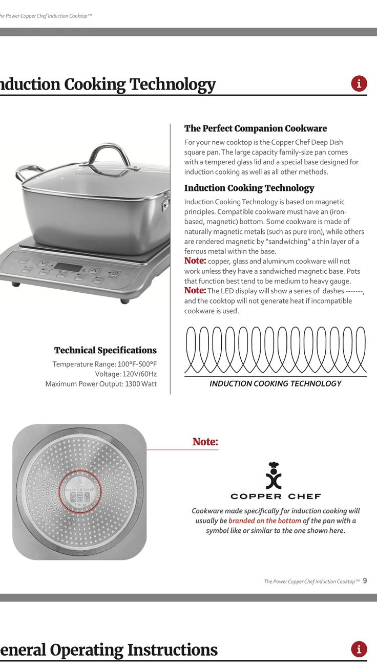 20 Best Copper Chef Induction Cooktop Manual Images On Pinterest