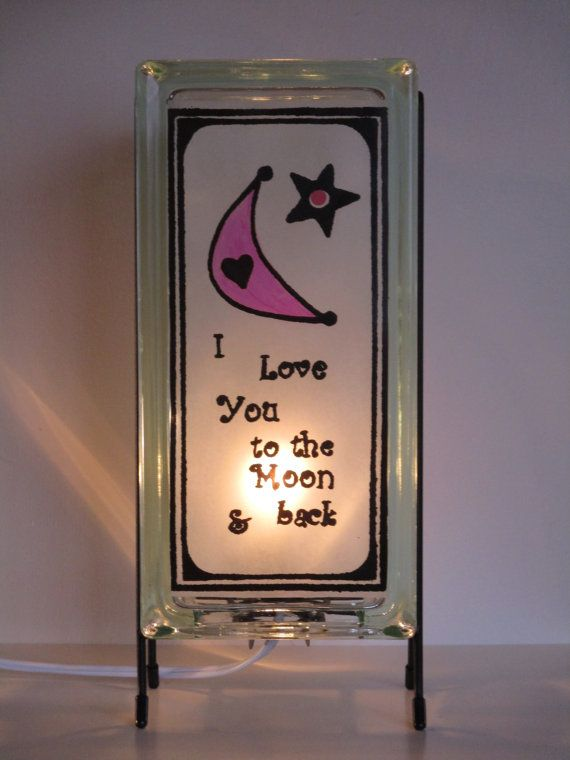 Moon and Star lamp upcycled handmade night light FREE SHIPPING