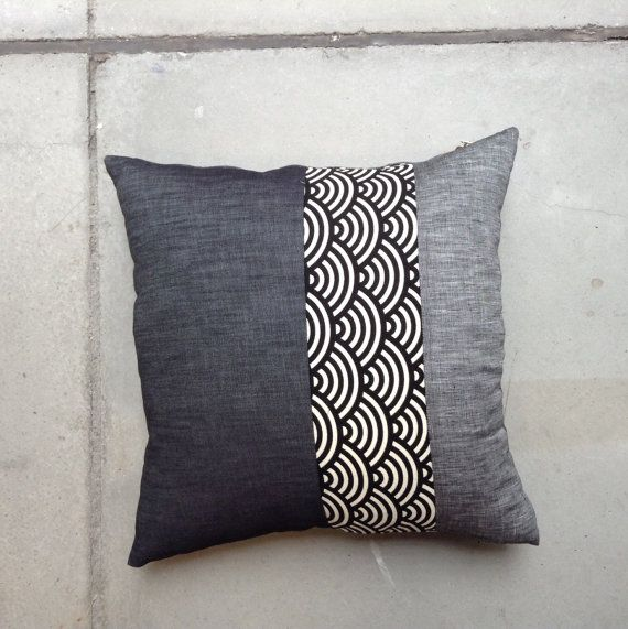 50x50cm cushion cover decorative throw pillow denim by mimehome, $290.00
