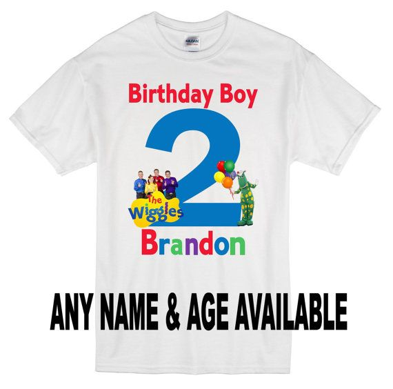 The Wiggles Personalized Birthday Shirt