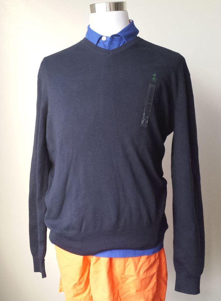 #POLO Ralph Lauren men size L cotton navy blue sweater RalphLauren visit our ebay store at  http://stores.ebay.com/esquirestore