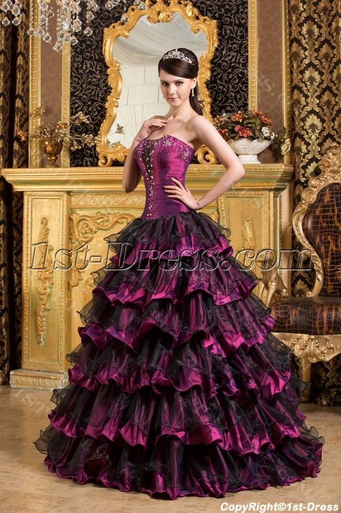 Rainbow colored quince dresses black