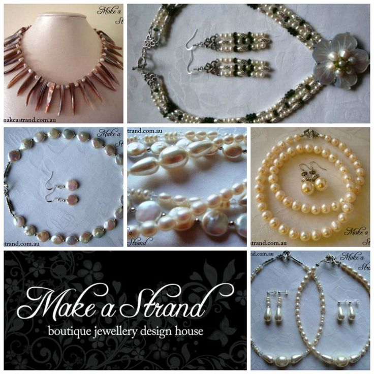 This collage showcases a very small selection of the pieces jewellery artist Amanda Webb of Make a Strand loves to create for brides and special occasions... More to come!  See www.facebook.com/MakeaStrand or www.makeastrand.com.au for more designs, projects and inspiration! Thanks x Amanda x