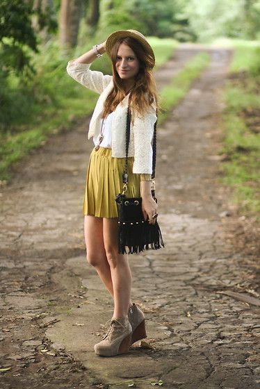 Lookbook Skirt, Nasty Gal Bag, Jeffrey Campbell Boots