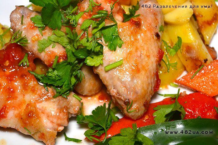 Куриные крылышки по-мексиканский (оригинальный рецепт)