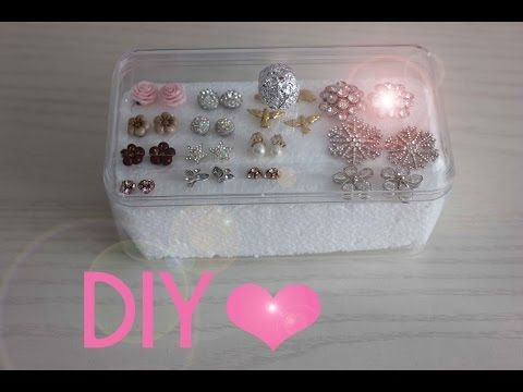 Porta orecchini fai da te - DIY Earrings holder - YouTube